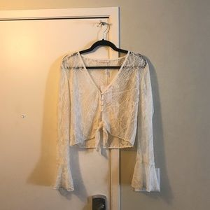 WAYF Ivory Lace Top